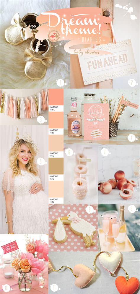story of a girl themes perfectly peach baby shower ideas paperknots