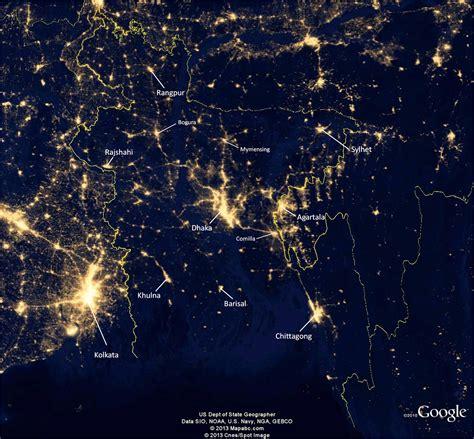 Map Lights by Maps Of Bangladesh Lights Of Bangladesh 2012