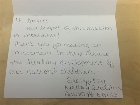 Handwritten Thank You Note For Donation Why Small Donations Should Matter A Lot To Nonprofits