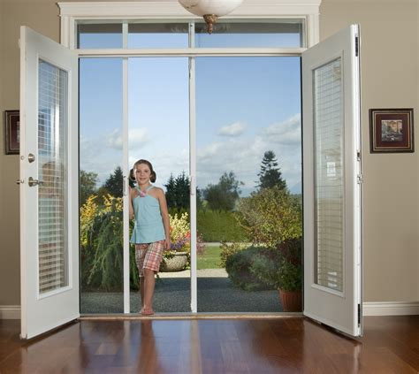 outswing patio doors with retractable screens retractable screen doors scotia screens