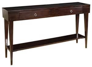 transitional console table antero espresso console table transitional console