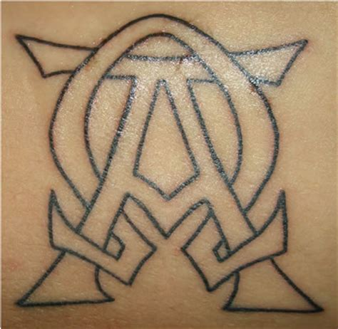 alpha omega tattoo alpha and omega