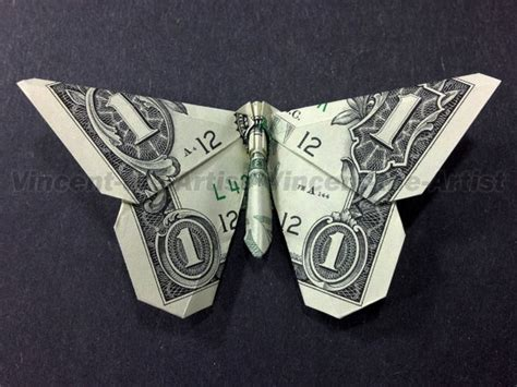 Dollar Bill Origami Butterfly - pin by joey sanvido on kid stuff