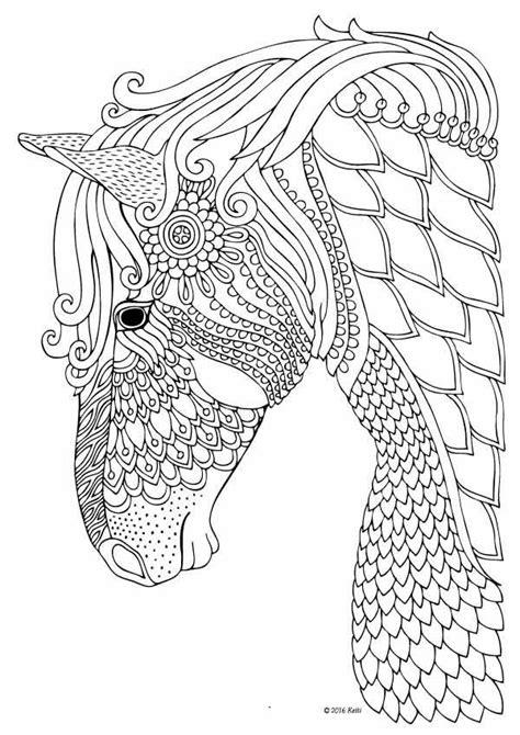 horse coloring page for adults horse coloring page for adults illustration by keiti