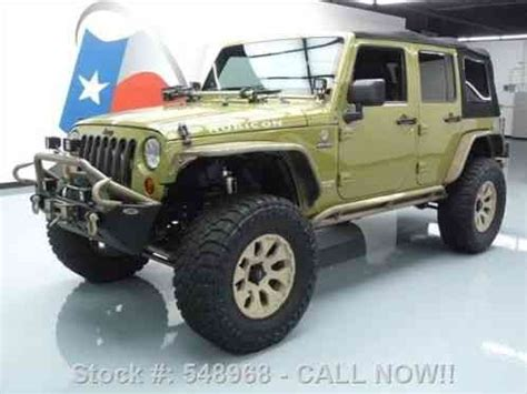 hennessey jeep wrangler jeep wrangler 4dr rubicon 4x4 hennessey hpe400 2013 34k