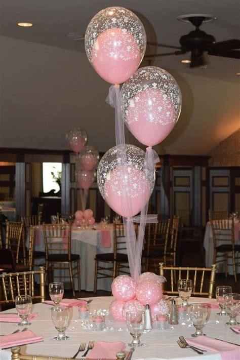 Baby Shower Balloon Centerpiece baby shower christening balloon centerpieces flowers