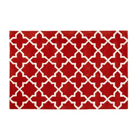 Geometric Orange Rug by Hicks And Hicks Onslow Orange White Geometric Rug