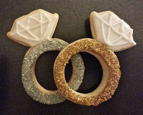 Wedding Ring Cookies by Engagement Ring Cookies S Cookie Jar