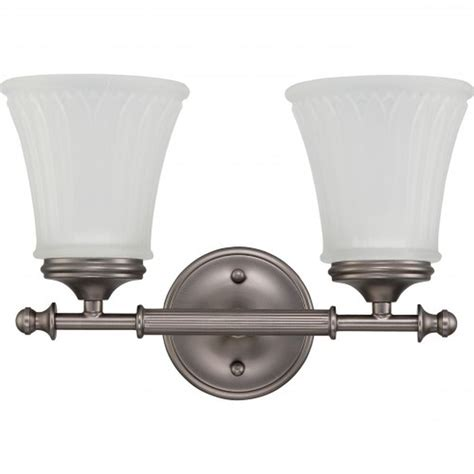 Satco Light Fixtures Satco Nuvo Lighting 60 4012 2 Lights Vanity Light Fixture In Aged Pewter Finish At Sutherlands