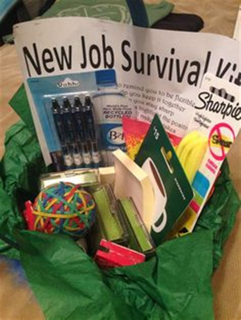 new job survival kit creative gifts pinterest new