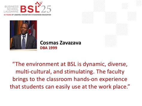 Mba Lausanne by Business School Lausanne Alumni Quotes