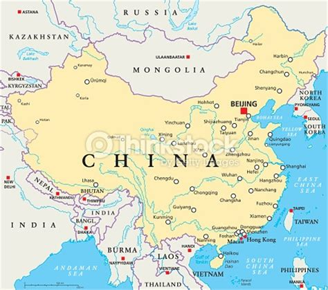 world map rivers huang he china politische karte vektorgrafik thinkstock