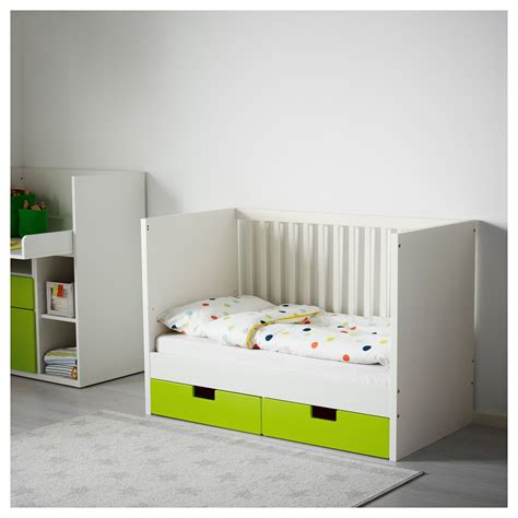 ikea baby stuva cot with drawers green 60x120 cm ikea