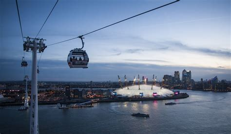emirates london office cable car getting here the o2