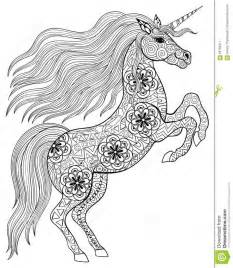 hand drawn magic unicorn anti stress coloring wit download 37 million