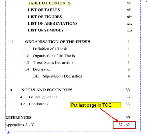 latex tutorial table of contents cross referencing how to create quot from page xx to last