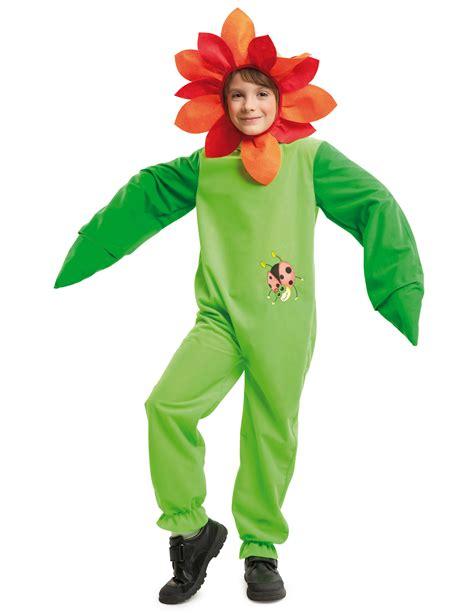 vestito da fiore carnevale costume da fiore con coccinella per bambino costumi