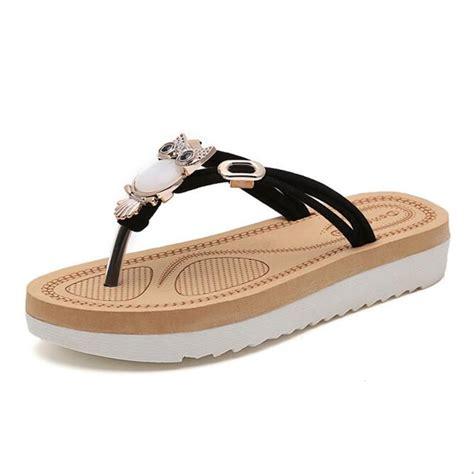 Fashion Sandal Import 1 fashion sandals owl flip flops fashion flat shoes shoes sandals in