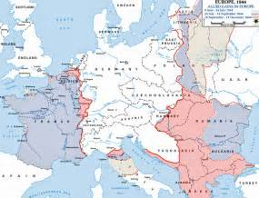 Map Of Europe Before Ww2 by Map Of Europe In 1944