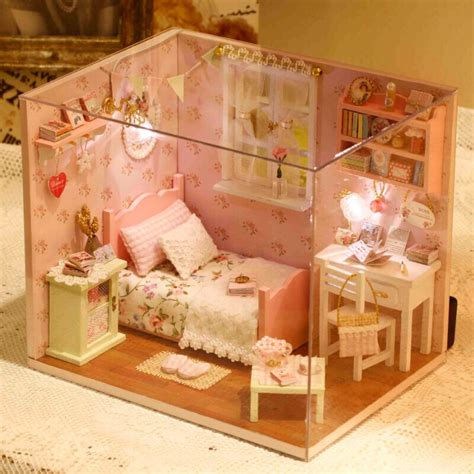 doll house models diy doll house room home dollhouse miniature dream house model kit wooden doll house