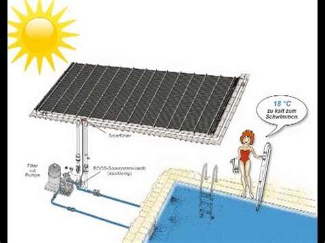 poolheizung solar rapid  funktioniert es youtube