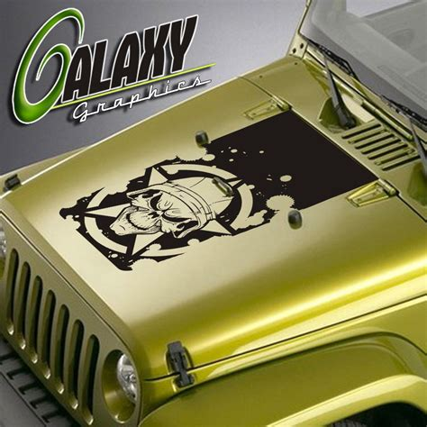 army jeep decals jeep wrangler blackout skull decal matte