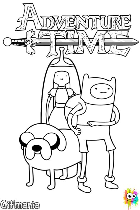 adventure time characters coloring page