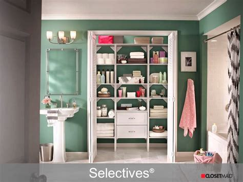 closetmaid diy linen closet amp bath systems and solutions
