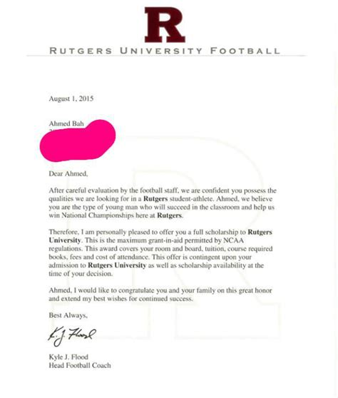 Financial Award Letter Rutgers rutgers award letter how to format cover letter