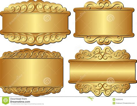 design an invitation to print free golden banners stock vector image of gold clip panel