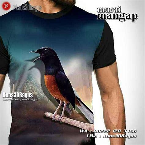 Kaos Kicau Mania Murai Batu Vol 2 kaos burung berkicau animal