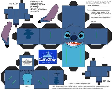 Best Paper For Papercraft - dis8 stitch cubee by theflyingdachshund deviantart on