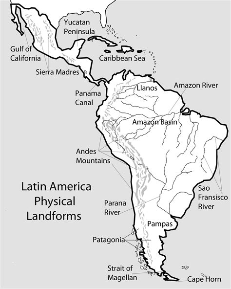 south america physical political map unit 3 mr geography for