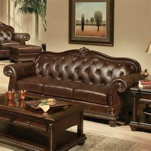 cherry leather sofa acme furniture anondale sofa in cherry top grain leather local furniture outlet