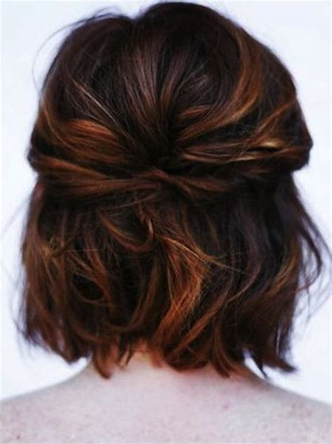 updo bobs and highlights on