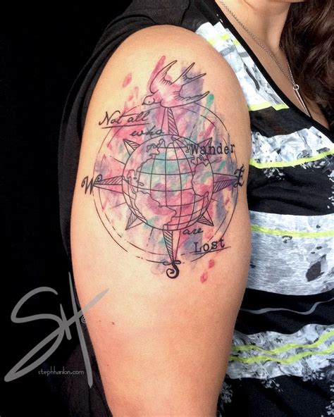 watercolor tattoo vermont 158 best images about compass on