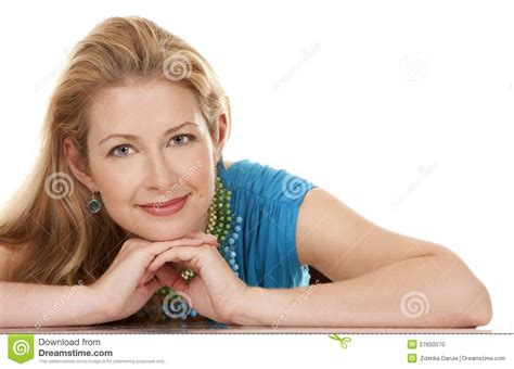 blonde women of the 40 blonde woman stock photo image 27650070
