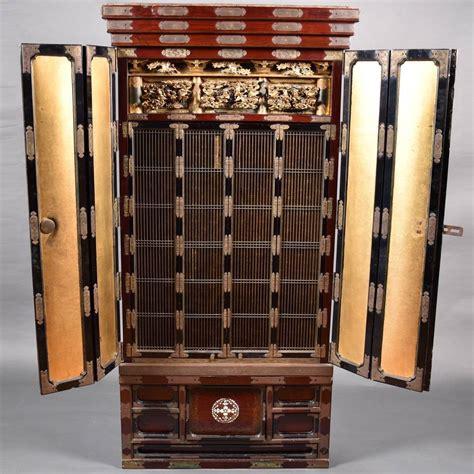 Japanese Altar Cabinet altar cabinet shrine de grande asian antique furniture