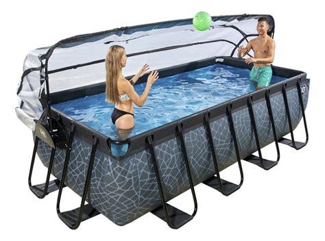 piscine le cupole exit piscine avec coupole et filtre 224 4 x 2 m