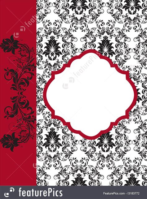 Damask Wedding Invitation Template by Templates Vintage Damask Invitation Template Stock