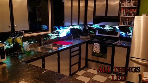 led digital kitchen backsplash demo youtube led backsplash by all things led youtube