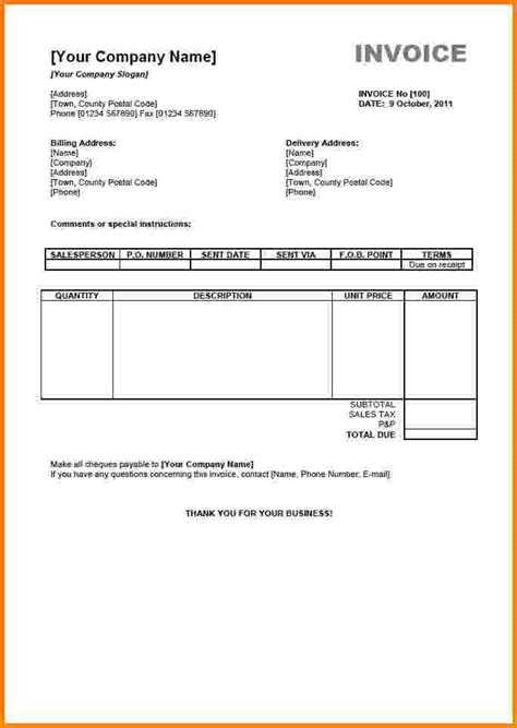 7 free editable invoice template pdf short paid invoice
