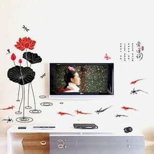 Wall Sticker 60x90 Wall Stiker Transparan Ay9097 Flower jual wall sticker world trip stiker dinding murah