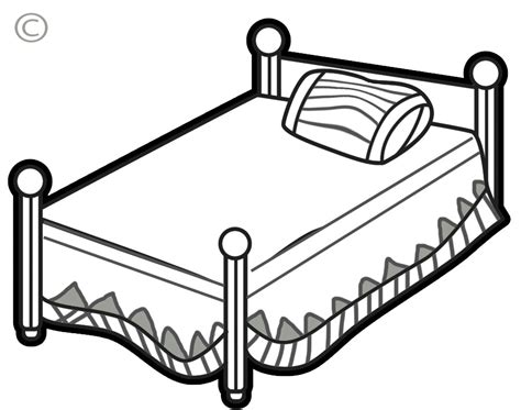 bed clipart bed clipart black and white clip net