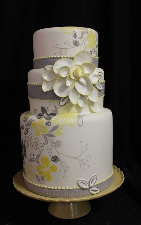 yellow and grey wedding cakes a wedding cake blog the gallery for gt yellow and gray wedding cakes