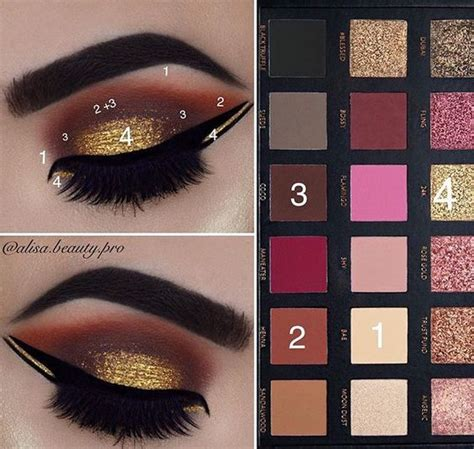 tutorial makeup huda beauty pictorial for my previous look huda beauty rose gold