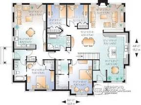 Multi Generational House Plans by Multi Family Plan W3043 Detail From Drummondhouseplans Com