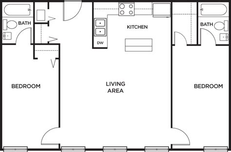 two bedroom two bathroom apartments 2 bedroom 2 bath apartment floor plans gurus floor