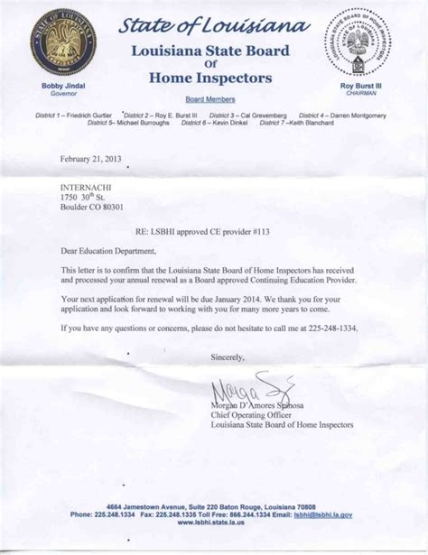 Guarantee Letter Là Gì How To Become A Certified Home Inspector In Louisiana Internachi