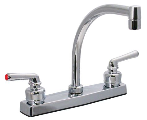rv kitchen faucets phoenix faucets 8 quot dual handle rv kitchen faucet hi arc